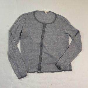 Eileen Fisher Organic Linen Button Up Top XS
